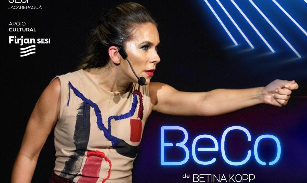 """Teatro: Atriz Betina Kopp apresenta peça """"BeCo"""" no Rio de Janeiro"""